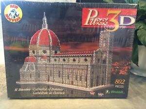 Puzz3D Il Duomo Cathedral of Florence 802 Pcs Puzzle Wrebbit 1997 Vintage NEW!!!