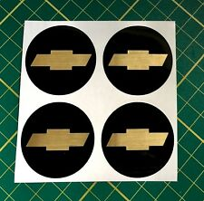 4x Alloy Wheel stickers golden effect 50 mm fit chevrolet center badge trim cap