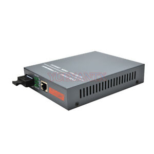 Gigabit Fiber Optical Media Converter 1000Mbps Multi-Mode Duplex SC Port 2KM