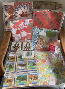 Vtg lot 9 Christmas Everyday gift wrap paper Hallmark Current goose panda floral