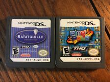 Ping Pals + Ratatouille (Nintendo DS Game Lot) Children - Guaranteed