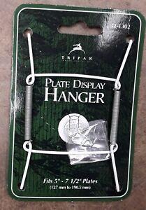 "TRIPAR - Plate Display Hanger, metal, white vinyl coating, 5"" - 7 1/2""- 2 pack"