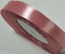 "5 metres x Single Sided Satin Ribbon 15mm or 5/8"" Salmon Pink 75 NEW"