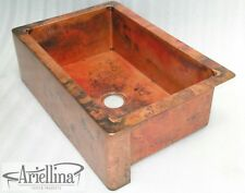Ariellina Farmhouse Smooth Copper Kitchen Sink Lifetime Warranty New AC1818 NF