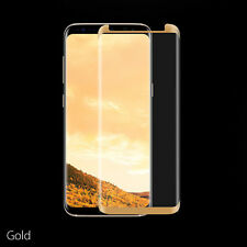 Nuglas Full Cover Tempered Glass Screen Protector Samsung Galaxy S8 Plus Note 8 Galaxy S7 Edge Gold