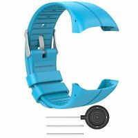 Silicone Wristband Band For Polar M400 M430 GPS Smart Watch 5.5''-8.0'' Blue