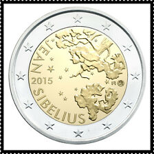 2 EURO *** Finland 2015 *** Jean Sibelius *** Finlande 2015 !!!