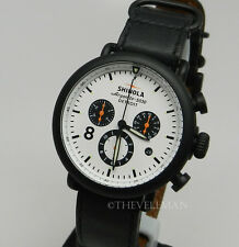 Mens Detroit Made & Swiss Shinola Runwell Contrast 41mm Chronograph PVD Watch