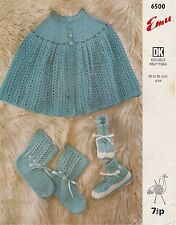 vintage retro Emu 6500 photo copy knitting Patten ladies cape & bedsocks in D.K.