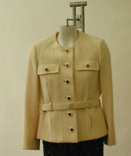 Originala Vintage 60s Jacket Belted Military Style USA made Couture 6
