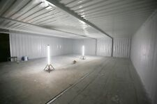 Quad bay 40 X 32 Ft Wide Linked Container Workshop.. Strengthened.