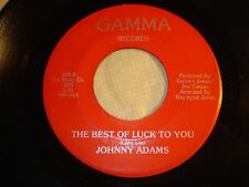 "JOHNNY ADAMS ""Sharing You / Best of Luck to You"" on GAMMA 101 Sweet Soul VG+ /EX"