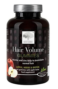 New Nordic Biotin + Zinc + Hair Volume Restore Hair Loss 60 Gummies rrp £19.99