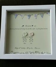 30th Birthday button Picture Birthday Present Gift Personalised .1st class post