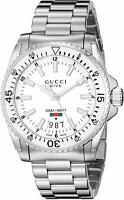New Gucci Dive White Dial Stainless Steel YA136302 Mens 40mm Watch