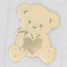 TPD 24K Gold Plated Anti Radiation Block Shield Cell Phone Sticker Cute Bear