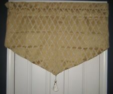 JC Penney Home Valance Very Formal TRELLIS Gold Beige New 23x40 ( 4 Available)