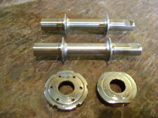 rare vintage Campagnolo raised flange cottered spindles, and domed cups 36x24tpi