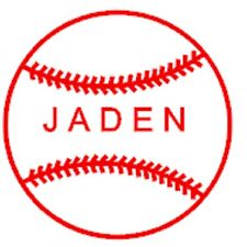5 x 5 Personalized baseball car or truck decal, your childs name
