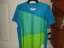 NWT Nike Nadal French Open 2010 Rush & Crush Tennis Shirt Federer 373295-481 M L