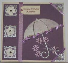 Vintage custom handmade personalize female birthday card-