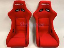 BRIDE ZETA II Low Max RED Pair Bucket Racing Seats JDM Vios Recaro Momo