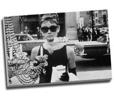 58a3fe1fe3f5e Audrey Hepburn Black   White Sunglasses Canvas Print Large 30x20