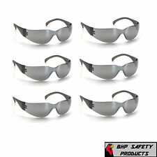 PYRAMEX INTRUDER SAFETY GLASSES SILVER MIRROR LENS SUNGLASSES S4170S (6 PAIR)