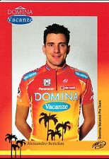 CYCLISME carte cycliste ALESANDRO BERTOLINI équipe DOMINA VACANZE 2005