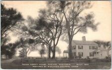 PORTAGE, Wisconsin  WI    INDIAN AGENCY HOUSE Built 1832   PM 1931   Postcard