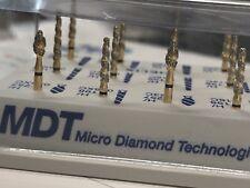 MDT Dental 1 The HELIX Kit#14. 24 Karat Gold FG Diamond Burs & autoclavable