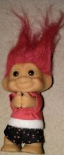 Vintage Kiss On Cheek Russ Troll Figure Doll *Valentine's day