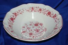 VTG Red Floral Bowl Mayer Delmar Style Serving Transferware Dish Micro Oven Safe