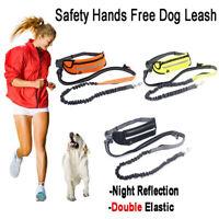 Adjustable No Hands Leash Dogs Pets Lead Waist Belt For Jogging Walking  Running