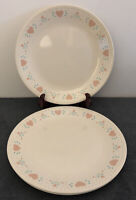 "Corelle Forever Yours Set of 3 Dinner Plates 10-1/4"" Discontinued Pattern"