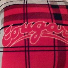 1 WSU Cougar Football Plaid Fleece Pillow Tailgater & Man Cave Love America Made
