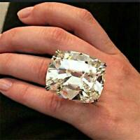 925 Silver White Topaz Women Band Ring Jewelry Wedding Bridal Party Size 6-10