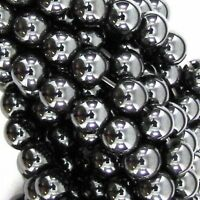 GRADE A MAGNETIC HEMATITE ROUND BALL SHAMBALLA SPACER BEADS  6, 8 & 10mm BD5
