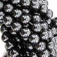 GRADE A MAGNETIC HEMATITE ROUND BALL SHAMBALLA SPACER BEADS  6, 8 & 10mm BD5