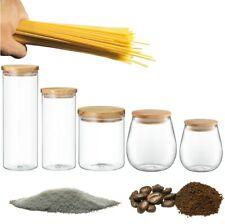 GLAS Vorratsdosen Vorratsglas Frischhaltedosen SET mit Deckel Vorratsbehälter
