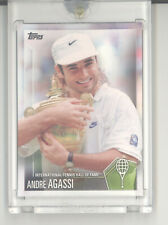 Andre Agassi 1/1 card Topps Vault blank back International Tennis Hall of Fame