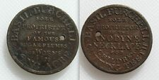 Basil Burchell Half Penny Token - Sugar-Plumbs For Worms - Holed