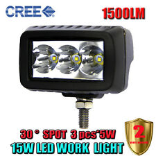 15W Led Light Bar Spot Beam Work Light 4WD ATV SUV Off-road Driving Lamp PICKUP