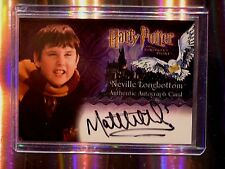 Harry Potter-SS-AUTHENTIC-Signature-Autograph Card-Matthew Lewis-N. Longbotttom