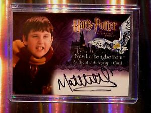 Harry Potter--Matthew Lewis-Neville Longbotttom-SS-Signature-Autograph Card