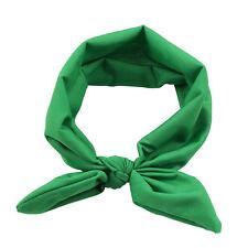 Women Yoga Elastic Bow Hairband Turban Knotted Rabbit Hair Band Headband GN N1