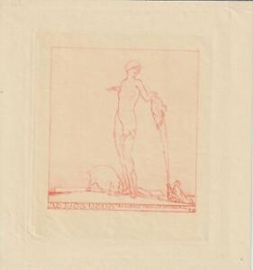 Ex libris Erotic Exlibris by FRANZ VON BAYROS (1866 –1924) Austria