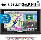 "Garmin Nuvi 58LMT│5"" Car GPS SatNav│Free LifeTime UK Europe Maps+Traffic Updates"