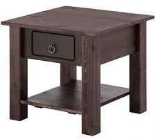Side Table Coffee Table Living Room Table 1 Drawer Pine Colonial Dark Brown