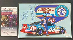 1992 RICHARD PETTY AUTO COA *QUANTITY* AUTOGRAPHED FAN APPRECIATION TOUR CARD